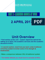 Wuc Tutorial 2, April 2017 UNIT 2