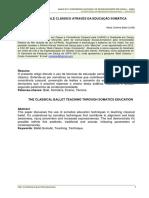 o Ensino Do Balé Clássico Através Da Educação Somática