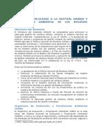 Principales Obligaciones y Responsabilidades de Los Actores Involucrados en La Gestión y Manejo de Los Residuos Generados Por Las Actividades de La Construcción y Demolición en Obras Menores