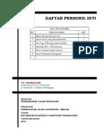 4. Daftar Personil Inti