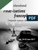Programme Journees de La Francophonie 24 25.03.2017