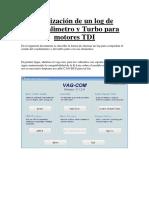 Log Turbo y Caudalimetro TDI Con VAG-COM