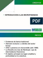 Inducción a las Microfinanzas
