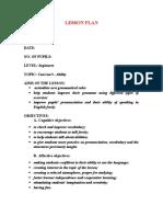 Proiect de Lectie Engleza Intermediari
