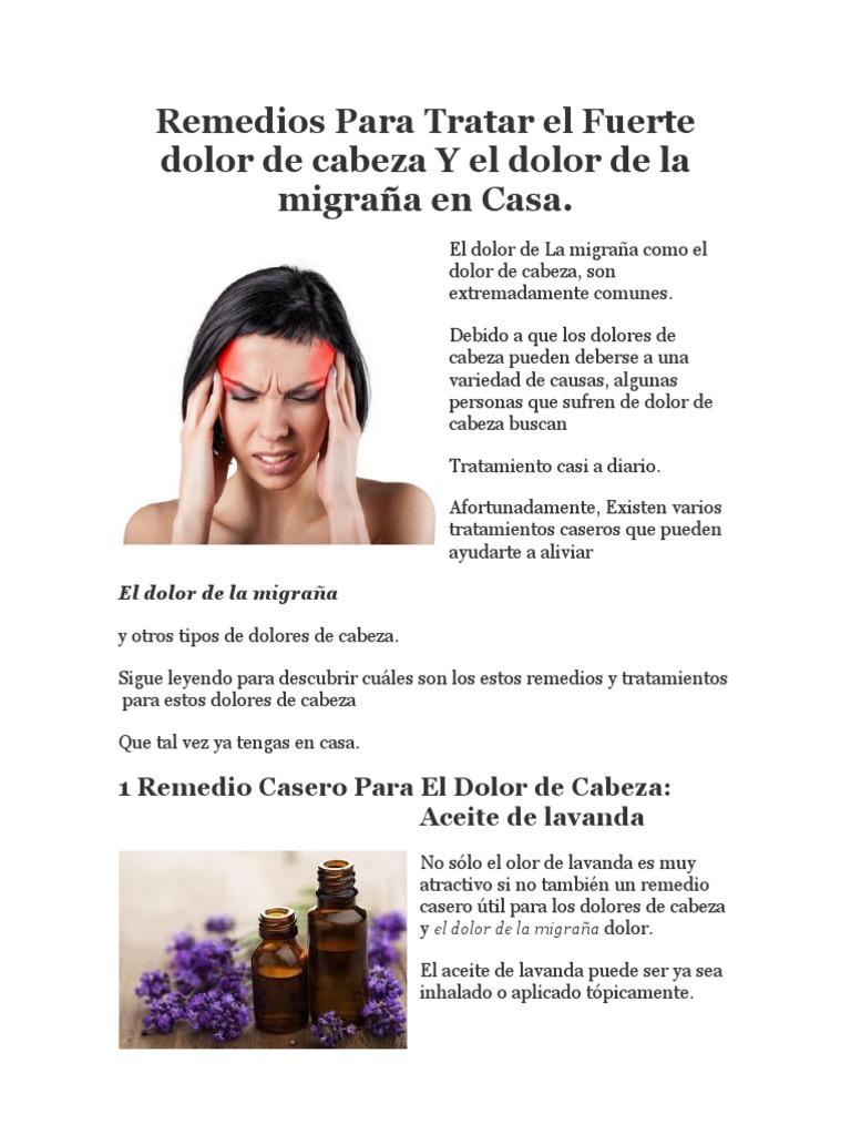 remedio natural para migraña fuerte