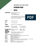 UCT Student Fees Handbook 2016