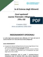 Presentazione Opzionali 2016-2017 Norme Generali e Prima Parte Esami