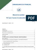 Manuel Du Candidat TCF ANF