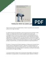 Publicación NIOSH de análisis postural.docx