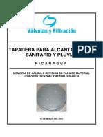 Tapadera de Fibra de Vidrio_Memoria Estructural