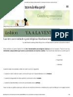 Las Tres Necesidades Psicológicas Fundamentales _ Coaching Emocional Por Isabel Sartorius