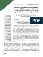 Variación de Alelos Del Gen Receptor de Dopamina