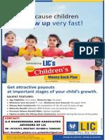 Lic Children's Moneyback Plan