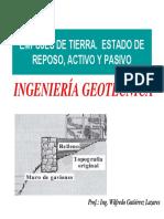 Empujes de Tierra_estado de reposo activo y pasivo - Wilfredo gutierrez.pdf