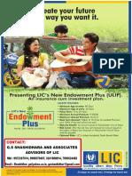 Lic New Endowment Plus
