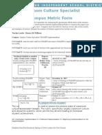 campus metric form