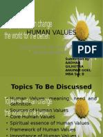 Anupam , Aadhar-Human Values Ppt