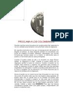 Proclama a Los Colombianos