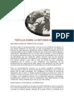 Tertulia Sobre La Reforma Agraria