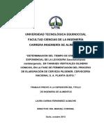 Tesis Determinacion Del Tiempo de Crecim de La Levadura Saccharomyce