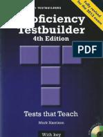 Proficiency Testbuilder With Key 4th Edition Harrison Mark