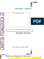 Carpeta Pedagogica Inicial 2017