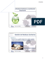 Gestión de ResiduoS SANITARIOS Cv