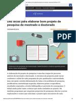 Dez Dicas Para Elaborar Bom Projeto de Pesquisa de Mestrado e Doutorado _ Notícias UFJF