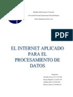 INTERNET APLICA AL PROCESAMIENTO DE DATOS