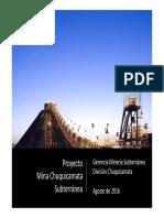 Sr Gonzalo Lasagna Proyecto Mina Chuquicamata Subterráneo