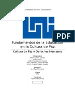 Fundamentos de La Educacion en La Cultura de Paz