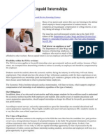 The Benefits of Unpaid Internships