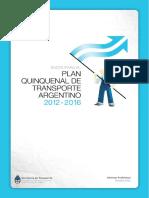 Bases Para El Plan Quinquenal de Transporte Argentino 2012-2016