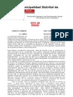 Nota de Prensa Nº 10-2-17 - 196 Aniversario Chancay