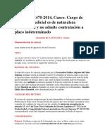 Casación 12470-2014-Cusco- Cargo de Secretario Judicial Es de Naturaleza Permanente y No Admite Contratación a Plazo Indeterminado