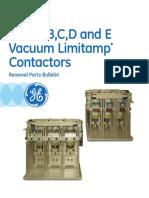 Partes Contactor Vacio GEF-8016C