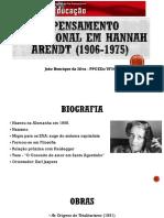 Hannah Arendt e o pensamento educacional