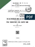 (1924) Tính Thành Thực Của Người Nam - Vũ Tam Tập