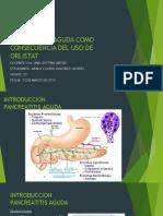Pancreatitis Aguda Como Consecuencia Del Uso de Orlistat