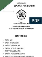 Penyediaan Air Bersih Sipil & Gedung
