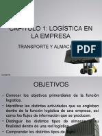 Capítulo 1 Logística en La Empresa; Transporte y Almacenaje