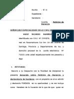 Demanda Peticion Herencia Hugo