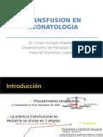 Transfusion en El RN
