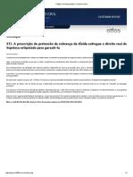 STJ - A Prescrição Da Pretensão de Cobrança de Dívida Atinge a Hipoteca