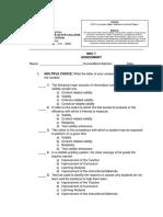 1 Assessment