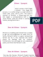 Dear Mr Kilmer_synopsis