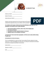 8th grade contract