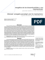 El Paradigma Energético de Los Biocombustibles y Sus Implicaciones