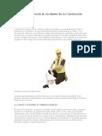 Manual de Prevención de Accidentes en La Construcción