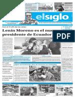 Edición Impresa Elsiglo 03-04-2017